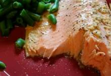 steelhead trout bake with dijon mustard