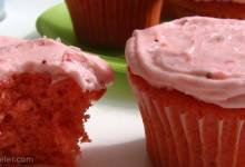 strawberry cake and frosting