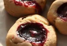 sugared black raspberry tea cookies