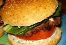 Summer Feta Burger with Gourmet Cheese Spread