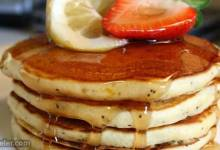 sunday morning lemon poppy seed pancakes