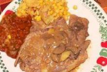 Sunny's Creamy Chicken Pork Chops