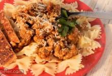 Sweet and Spicy Pumpkin Turkey Pasta