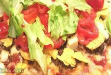 Taco Pizza with Grilled Halloumi