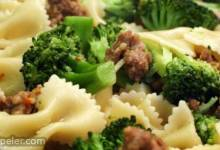 talian Sausage with Farfalle and Broccoli Rabe