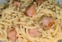 talian spaghetti with ham
