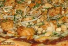 Thai Chicken Pizza with Carrots and Cilantro