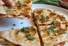Three Cheese Organic Turkey Quesadilla