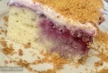 Triple Berry Cheesecake Poke Cake