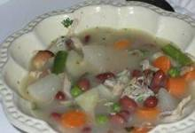 Turkey Frame Vegetable Soup