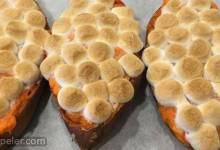 Twice-Baked Sweet Potatoes with Browned Butter and Toasted Marshmallows