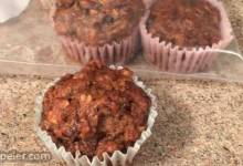 Vegan Date, Walnut, and Zucchini Muffins