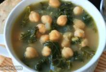 Vegan Kale and Chickpea Soup