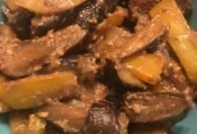vegan sesame miso eggplant