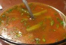Veggie Soup with Basil Sauce