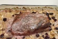 Vern's Roasted Pork Loin Over Sauerkraut