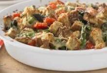 Whole Grain Asparagus and Red Pepper Strata