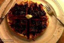 Whole Grain Waffles with Blackberry Sauce