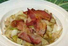 Wilted Cabbage Salad with Bacon